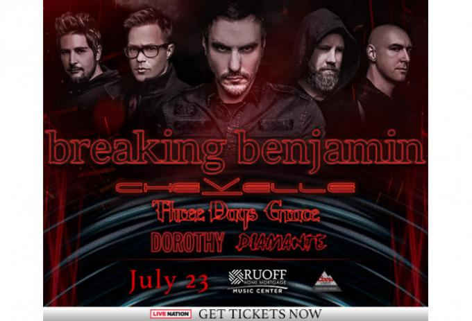 Breaking Benjamin, Chevelle & Three Days Grace at Austin360 Amphitheater