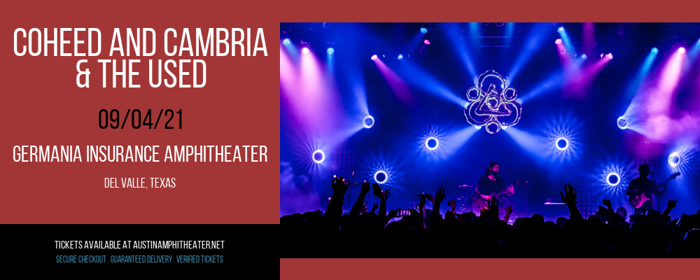 Coheed and Cambria & The Used at Germania Insurance Amphitheater