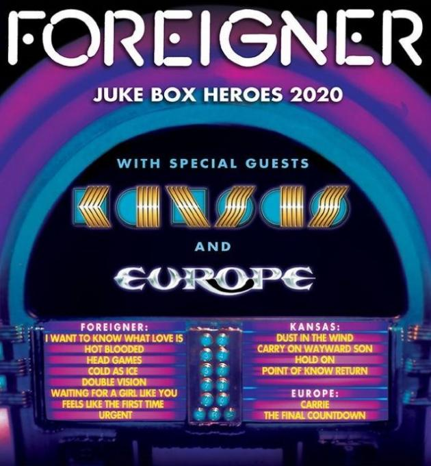 Foreigner, Kansas & Europe at Germania Insurance Amphitheater
