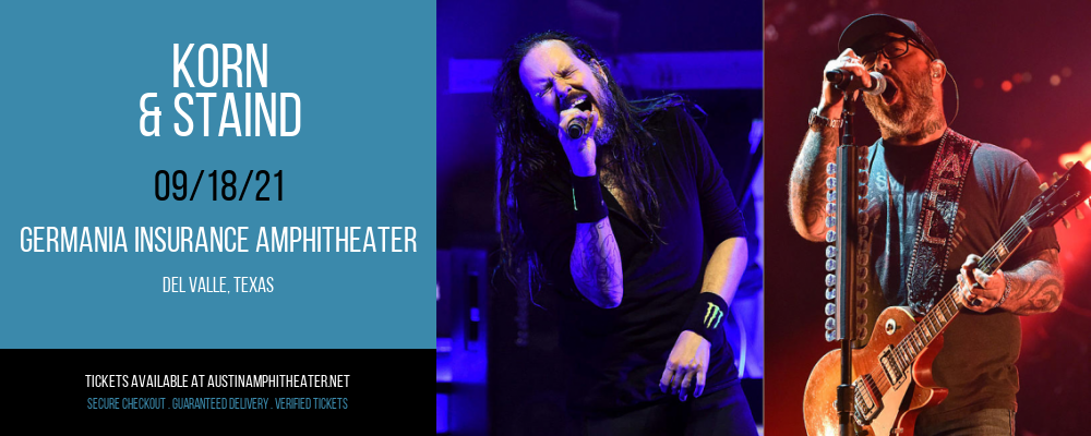 Korn & Staind at Germania Insurance Amphitheater